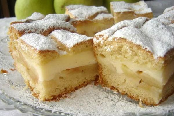 Бесподобный яблочный пирог с заварным кремом. В разы вкуснее шарлотки!