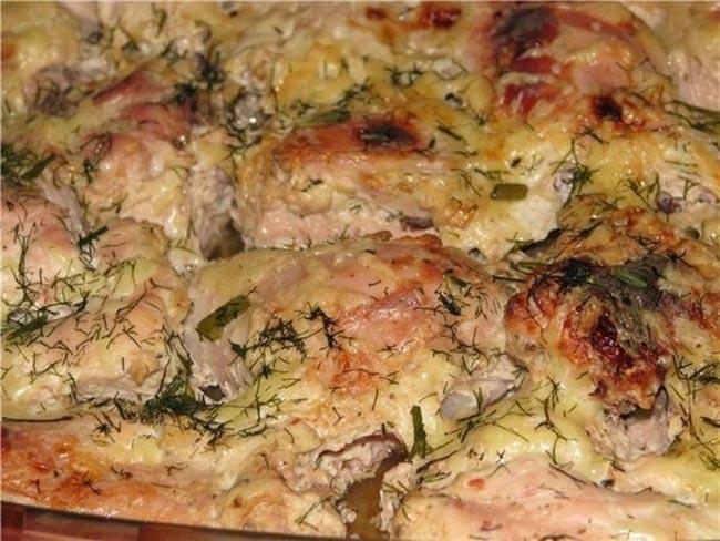 Изумительная курица, маринованная в кефире и запеченная в духовке