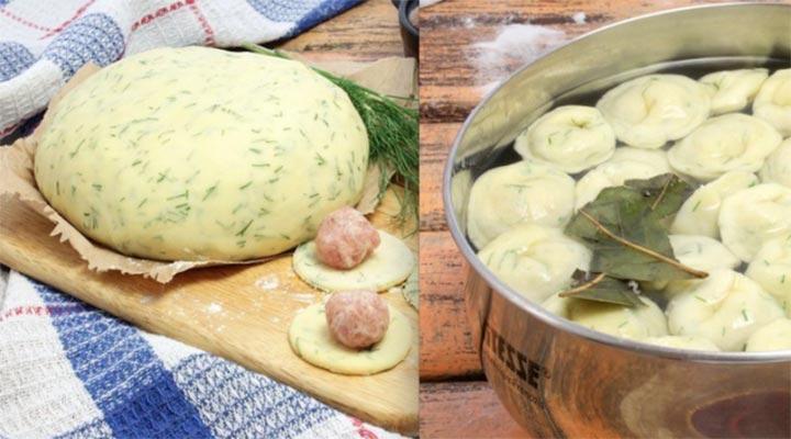 Начала делать домашние пельмени из теста с зеленью. Теперь готовлю только такие!