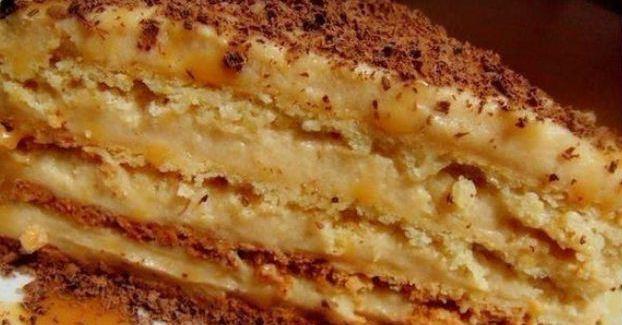 Невероятно вкусный и нежный торт «крем-брюле». Всем советую!