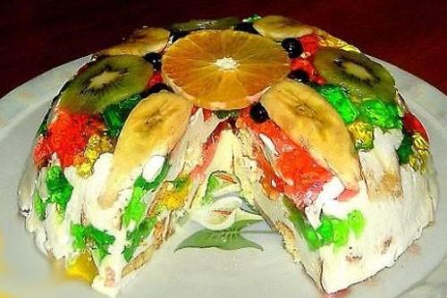 Вкуснейший творожно-ягодный торт «Битое стекло»