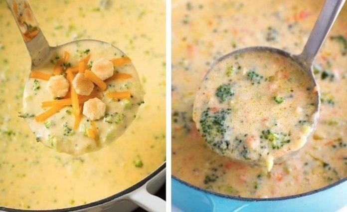 Полезно и очень вкусно! Ну очень! Сырный суп с шампиньонами и брокколи
