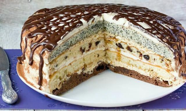 Торт с маком «Королева» - десертик действительно по-царски красивый и вкусный!