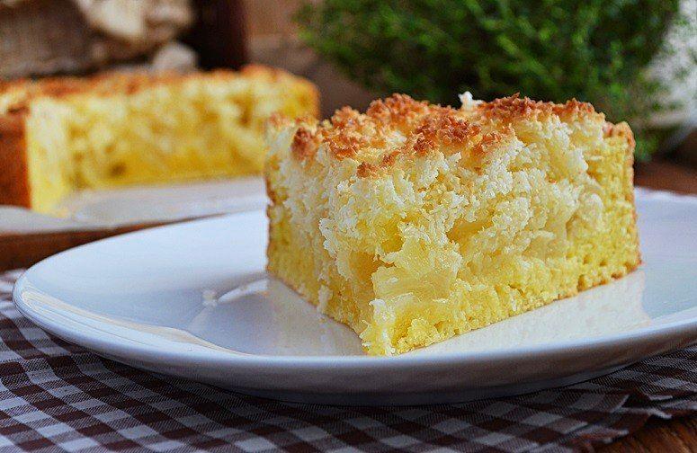 Творожно-яблочный пирог с необычной кокосовой карамелью
