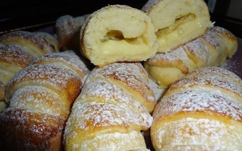 Вкусные воздушные булочки со сливочным кремом, на вкус как пирожное