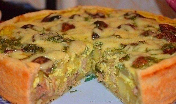 Пирог с курицей и картофелем: Улетает за 5 минут со стола!