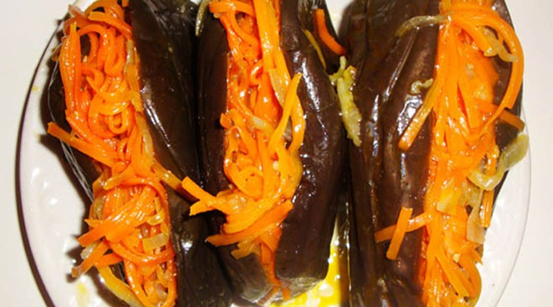 Квашеные баклажаны с морковью. Такая простая и вкусная закуска!