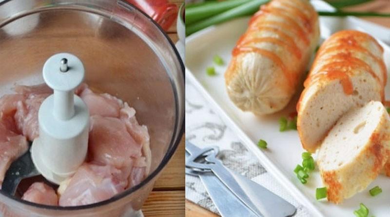 Домашние куриные сосиски - очень вкусные и действительно полезные!