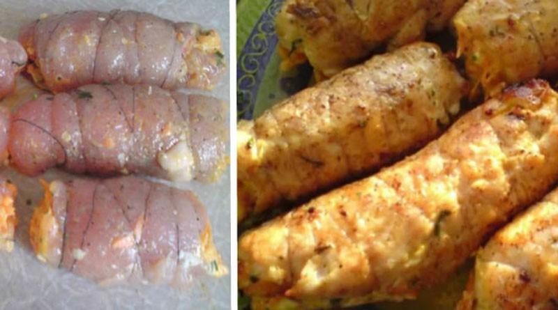 Рулетики «Боярские» из куриной грудки с нежнейшей начинкой