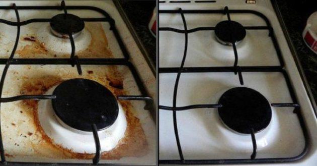 Белый кафель, плита без грязи, кастрюли без копоти и не только - это просто! Есть один рецепт!