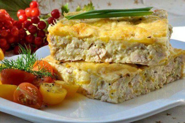 Лёгкая запеканка из куриного филе с кабачками — обалденный ужин без хлопот!