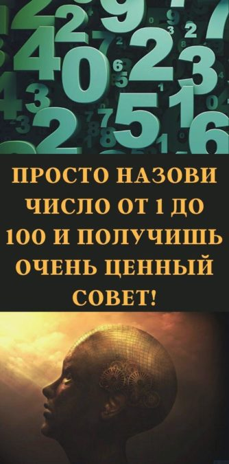 Просто назови число от 1 до 100 и получишь очень ценный совет!