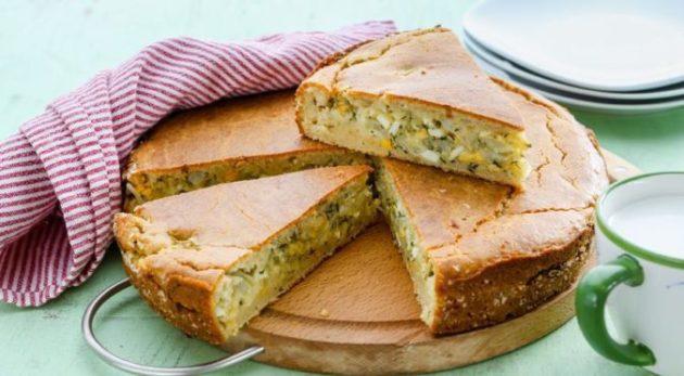 Готовим простой вкуснейший пирог из молодой капусты с яйцом