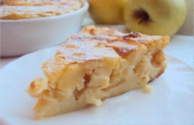 Воздушная запеканка из творога с яблоками тает во рту как сладкая вата!