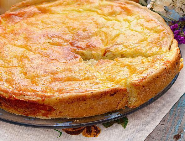 Заливной пирог с сыром - классный перекус мез мороки