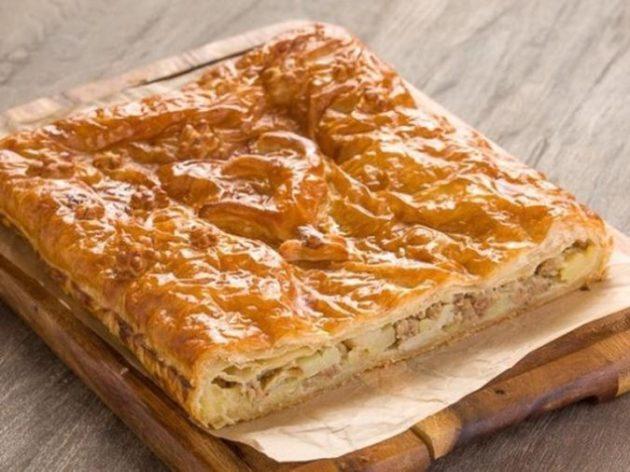 Самый вкусный и сочный мясной пирог всего за 15 минут