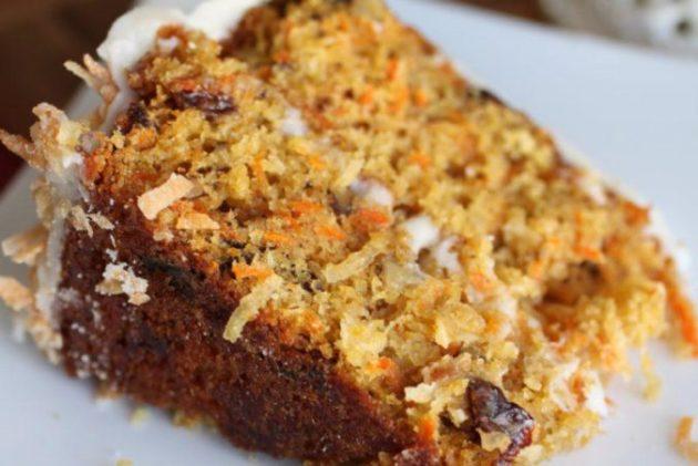 Морковный кекс с корицей и изюмом — вкуснейший рецепт для стройных