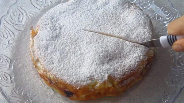Красивый, необычный и очень вкусный творожно-ягодный пирог «Кружева» за 10 минут