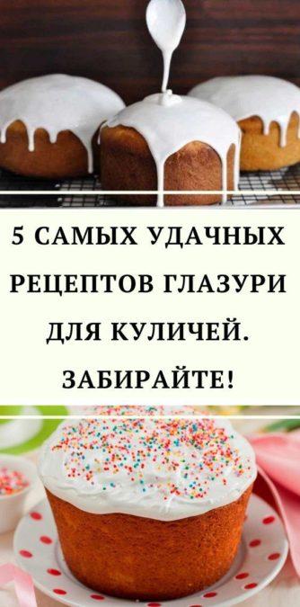 5 самых удачных рецептов глазури для куличей. Забирайте!