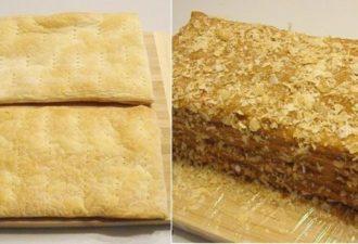Тортик из слоенного теста с безумно вкусным кремом: часто готовлю для маленькой дочурки!