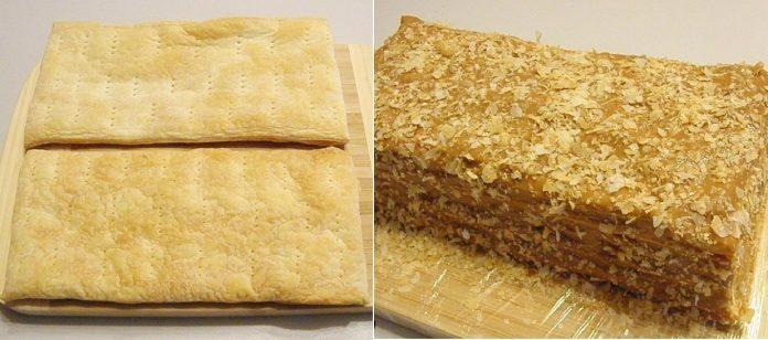 Тортик из слоенного теста с безумно вкусным кремом: деткам очень нравится!