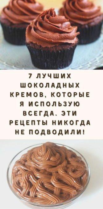 7 лучших шоколадных кремов, которые я использую всегда. Эти рецепты никогда не подводили!