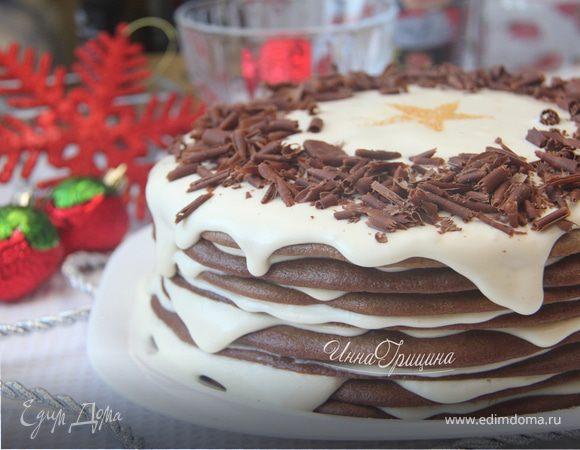 Шоколадно-сливочный Наполеон