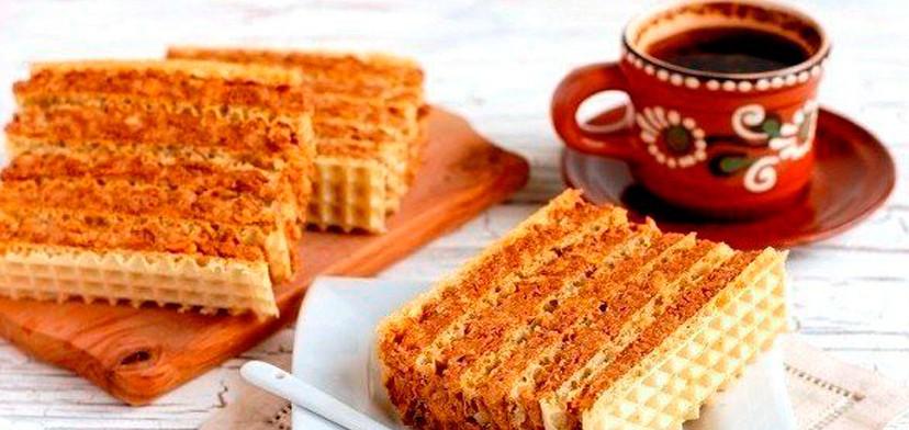 Рецепт крема для вафельных коржей. Получается очень быстро и вкусно