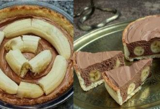 Вкусный торт с бананами и шоколадным муссом — сплошное наслаждение!