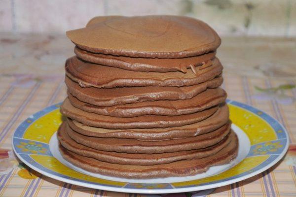Шоколадные Чоко панкейки на завтрак. Готовьте побольше, разлетаются в миг!