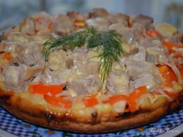 Даже не нужна духовка — пицца на сковороде «Быстрее не придумать!»