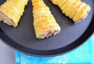 Оригинальнее я ничего не готовила: Закусочные слоеные трубочки