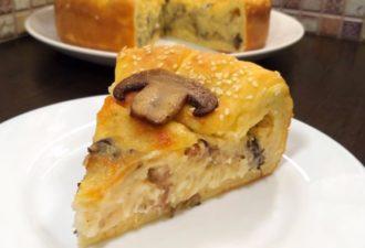 Безумно вкусный пирог «Барон-шампиньон»: пальчики оближешь