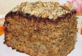 Нежный медово-маковый тортик с легким медовым ароматом