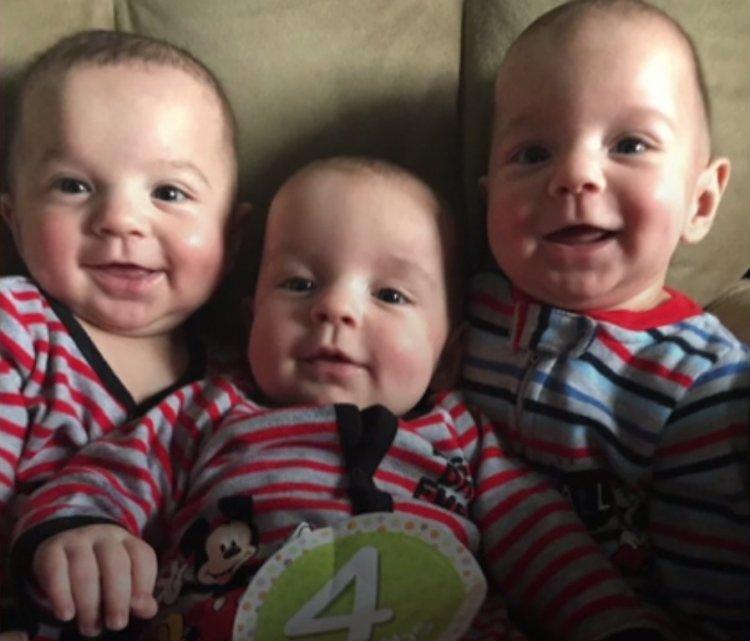 Уникальные тройняшки. Шанс рождения таких всего 1 на 500 триллионов
