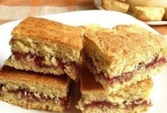 Очень вкусное домашнее печенье на кефире — простой рецепт с вареньем