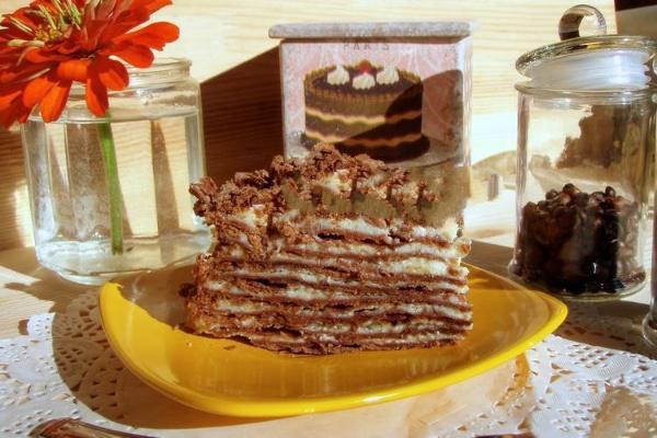 Шоколадно-сливочный Наполеон - идеальное сочетание вкусов!