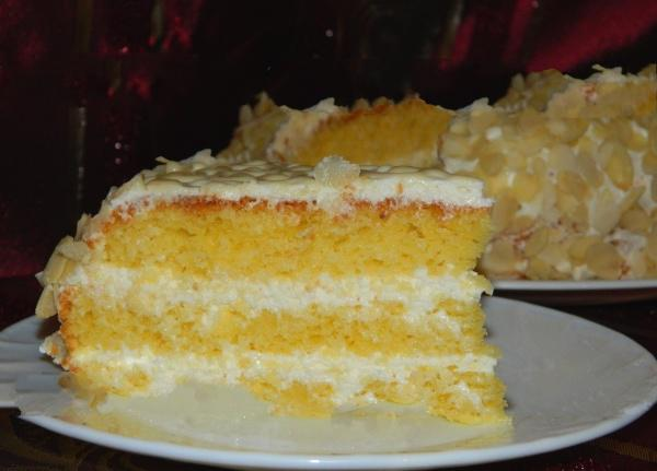 Шикарный тортик «Ожидание» с нежным творожно-лимонным кремом моментально растворяется во рту...