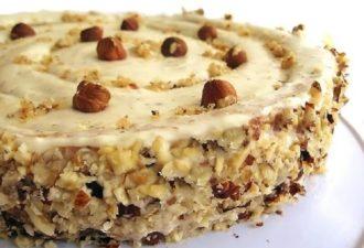 Ореховый торт. Для тех, кто любит орехи, придумать что-то вкуснее сложно!