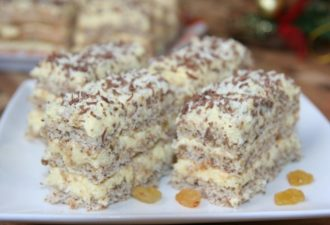 Очень легкий и нежный десерт к праздничному столу. Даже начинающие хозяйки смогут порадовать своих гостей!