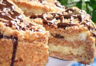 Простой в приготовлении, но шикарный на вкус — пирог с творогом и черносливом