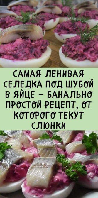 Самая ленивая селедка под шубой в яйце — банально простой рецепт, от которого текут слюнки
