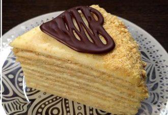 Торт на сковороде с заварным кремом «Творожный пломбир»