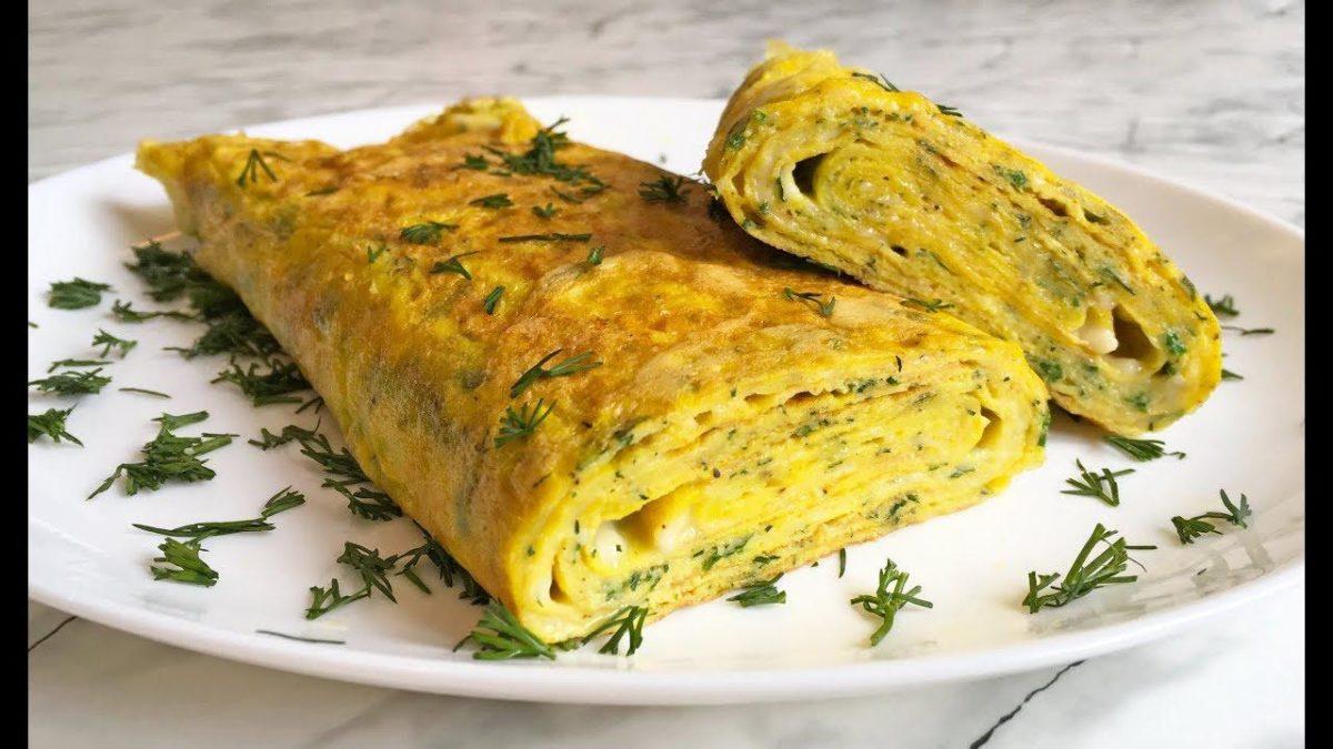 Необычный яичный ролл на завтрак - идеальный перекус за 10 минут