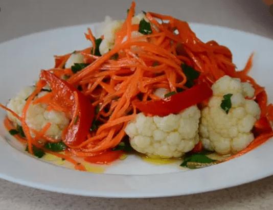 Цветная капуста «по-корейски». Безумно вкусный салатик!