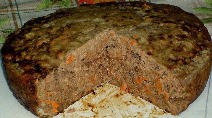 Печеночный пирог в духовке с овощами. Очень ароматный и сытный!