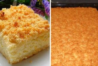 Всеми нами любимый тертый пирог с творогом, очень очень вкусно