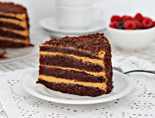 Очень вкусный шоколадный торт «Пеле». Перед ним не устоит ни один сладкоежка
