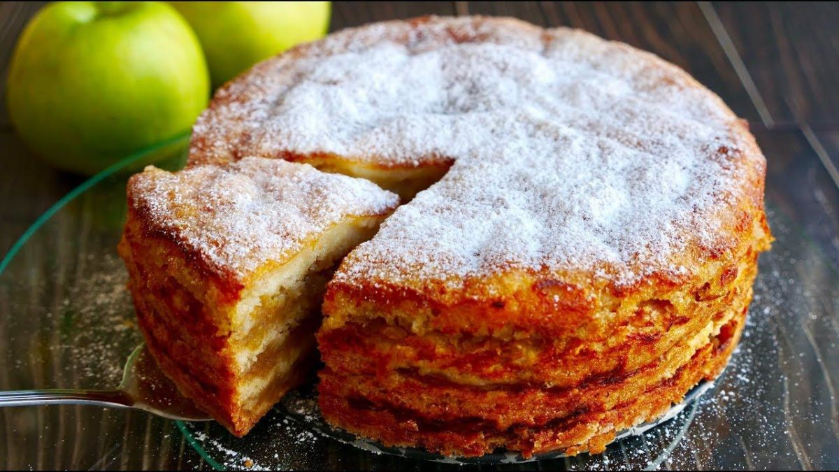 Болгарский яблочный пирог или пирог «три стакана» . Просто райское наслаждение