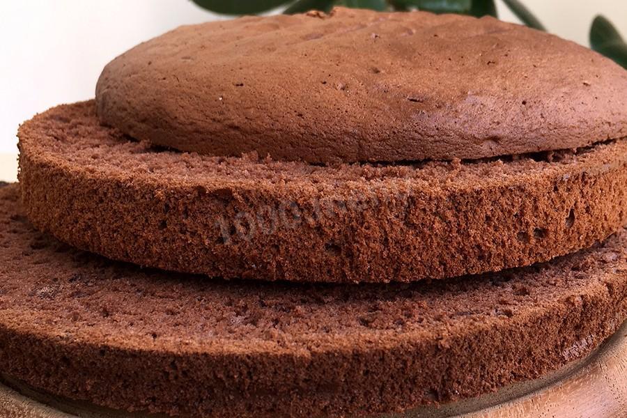 Простой и универсальный шоколадный бисквит